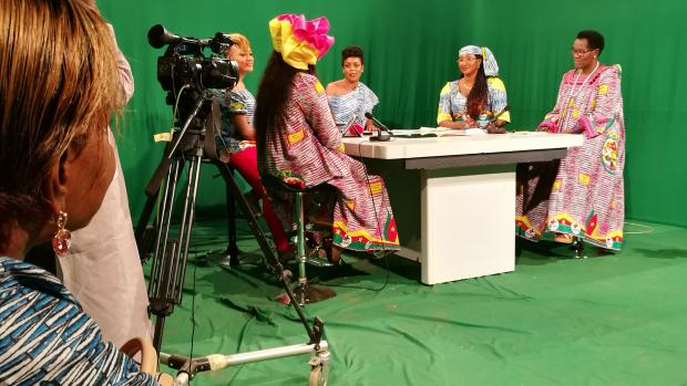 CoP ambassador Daphrose Ntarataze Barampama live on CRTV (Cameroon Radio TV)