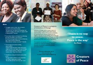 Creators of Peace brochure
