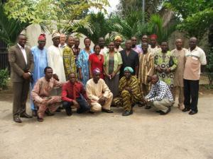 ACG With the Nigerian team outside the IofC office