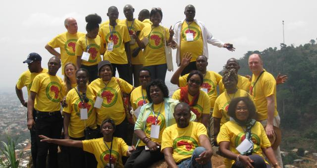 IofC francophone team members in Cameroon