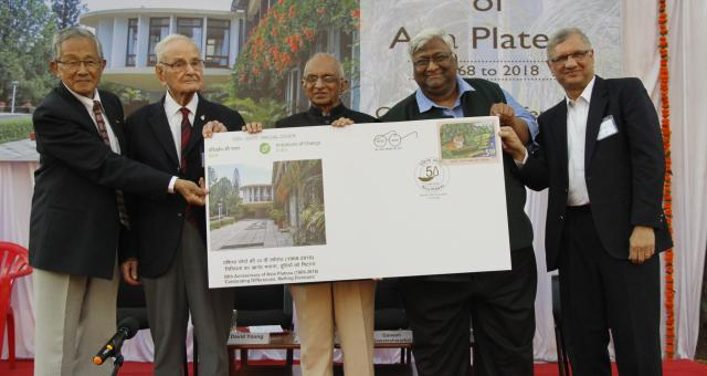 (l to r) Niketu Iralu (Asia Plateau trustee), David Young, Ravindra Rao, Ganesh Sawaleshwarkar, Sudhir Gogate (Asia Plateau trustee)