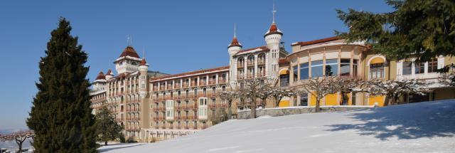 Caux Palace, winter, Caux, Switzerland, Europe