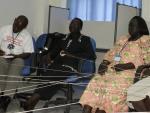 Participants in Juba Sudan Creators of Peace Circle workshop.