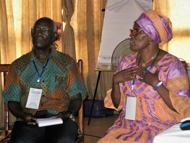 Training convenors Daphrose and Angelo from IofC Burundi
