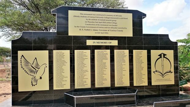 Memorial at Garissa University