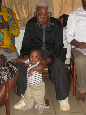 The eldest (Papa Pierre) and youngest participant