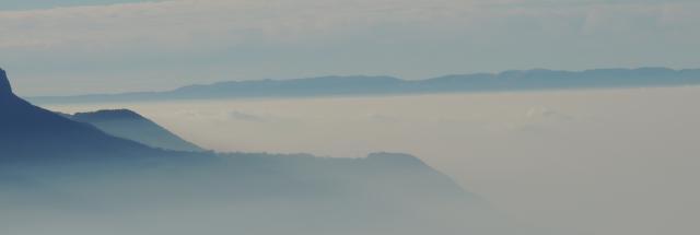 Caux, view, lake, clouds