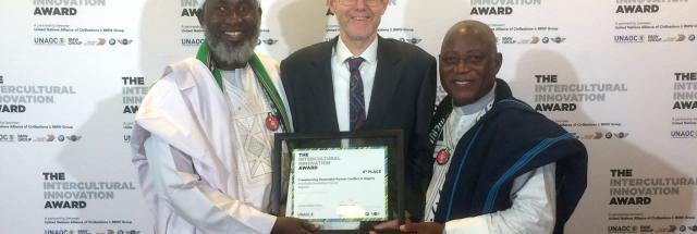 Iman and Pastor, UN award 2017, Alan Channer, Intercultural Innovation Award
