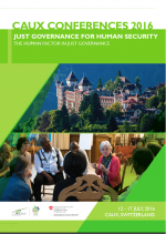 2016 report cover of Caux conference on Just Governance for Human Security